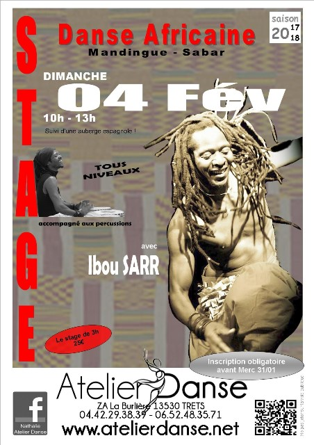 STAGE DANSE AFRICAINE 04.02.2018