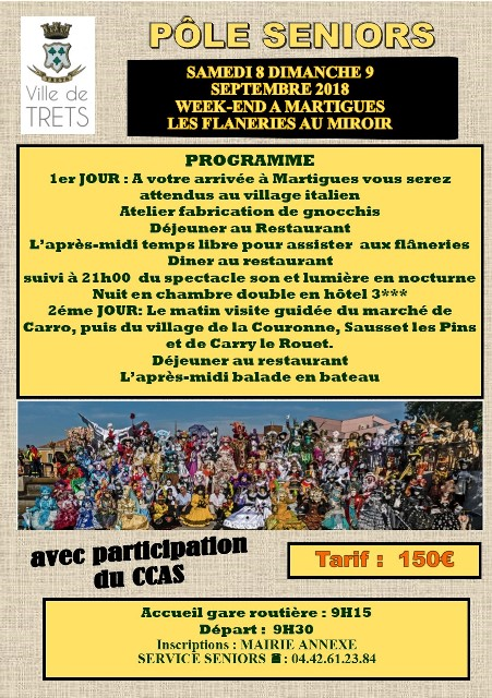 WEEK END MARTIGUES SEPTEMBRE 2018