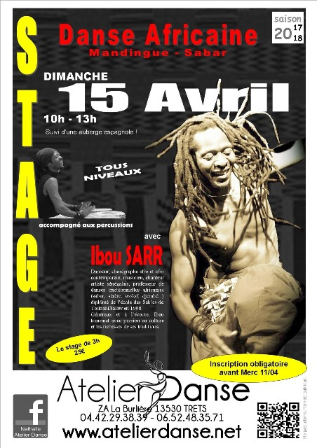 STAGE DANSE AFRICAINE 15.04.2018