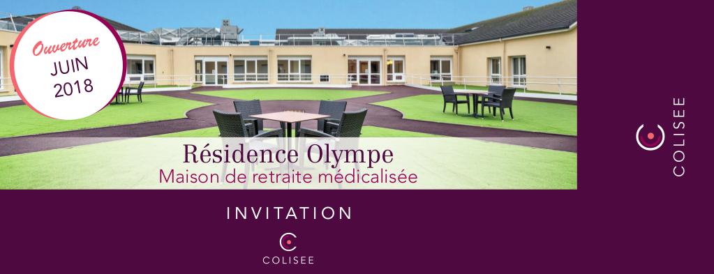Invitation Colisee Residence Olympe recto