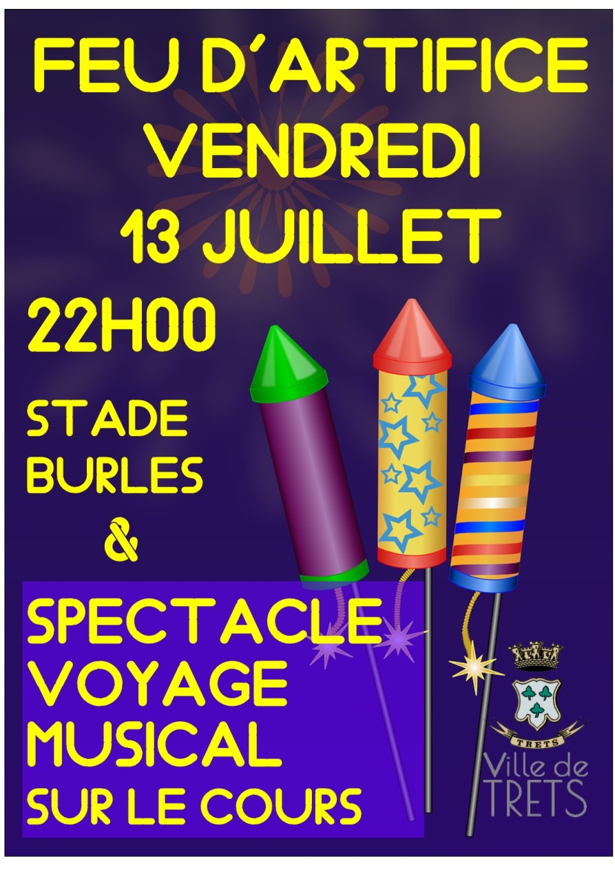 Affiche feu d'artifice 2018